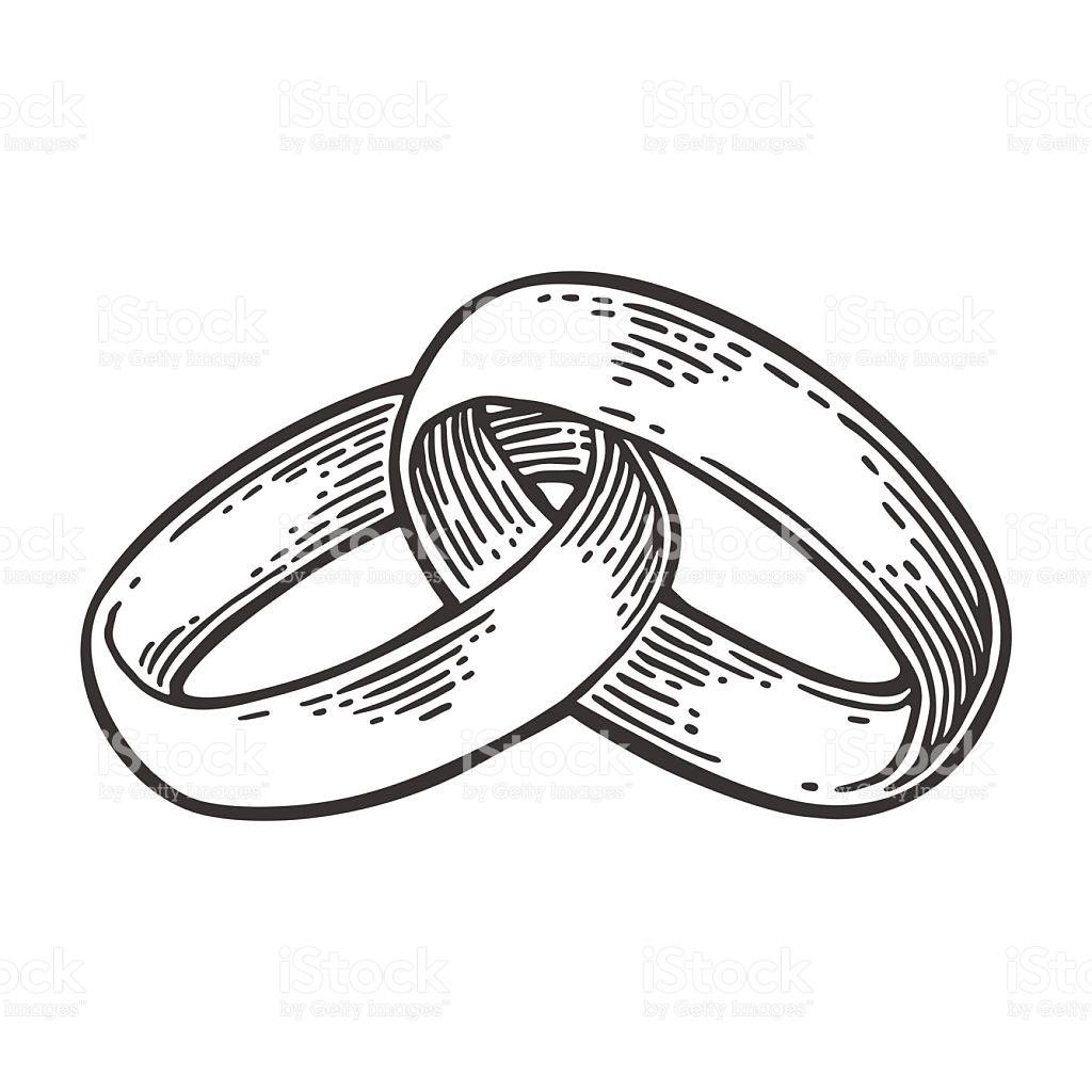 Together Forever Rings Clip Art.