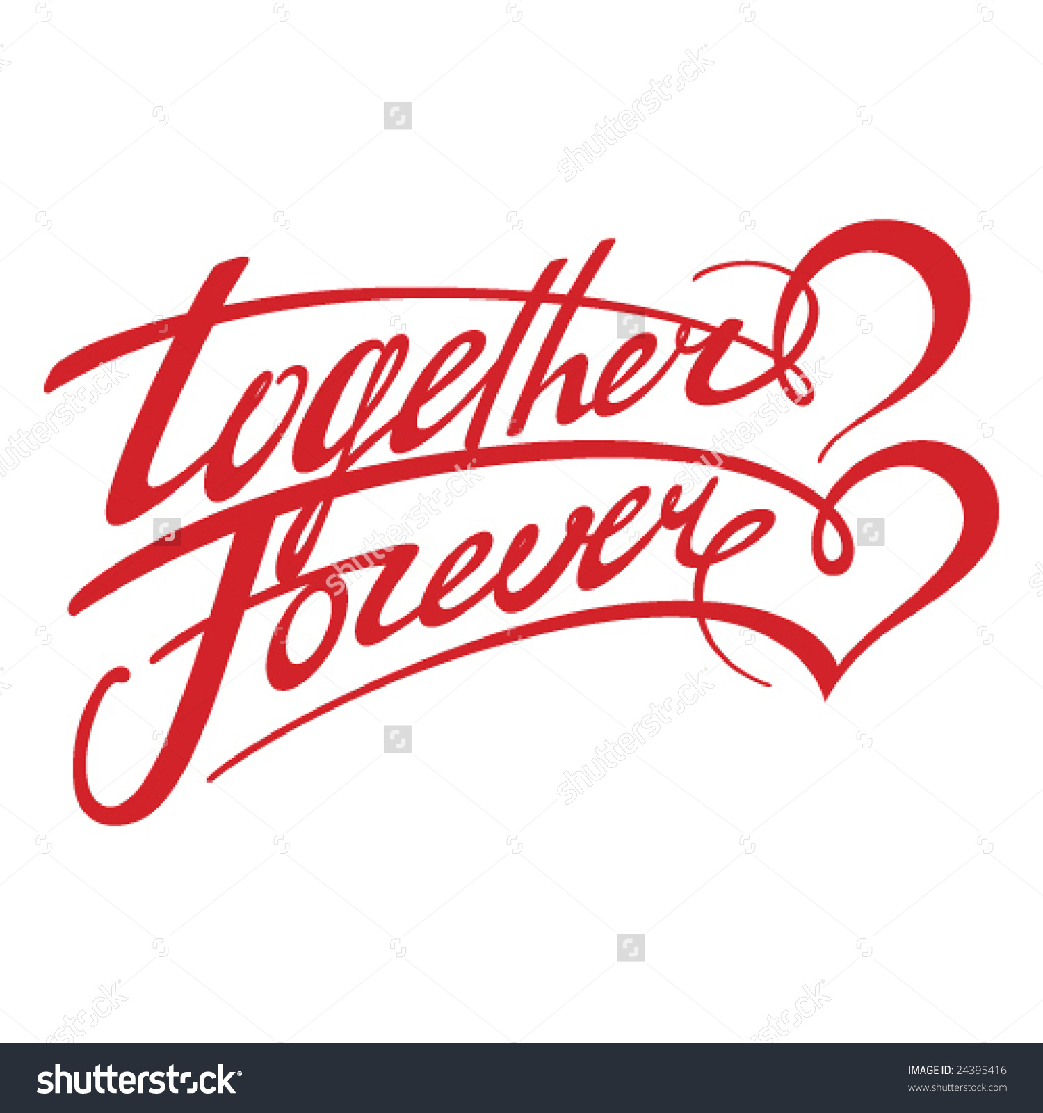 Together forever clipart.