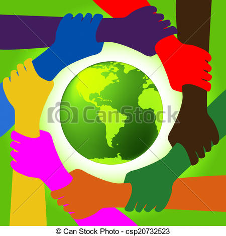 Clip Art of Holding Hands Shows Union Togetherness And Bonding.