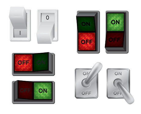Toggle switch clipart.