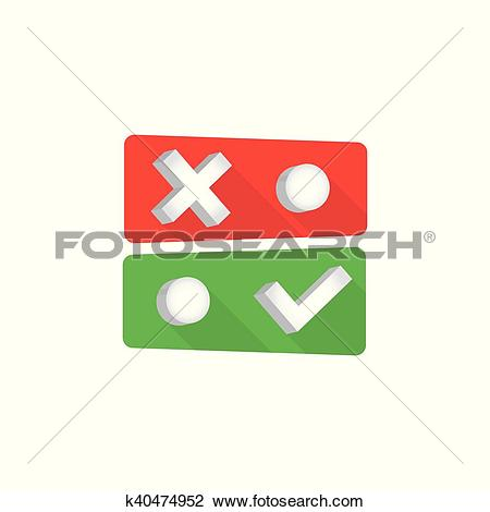 Clipart of Toggle switch icon k40474952.