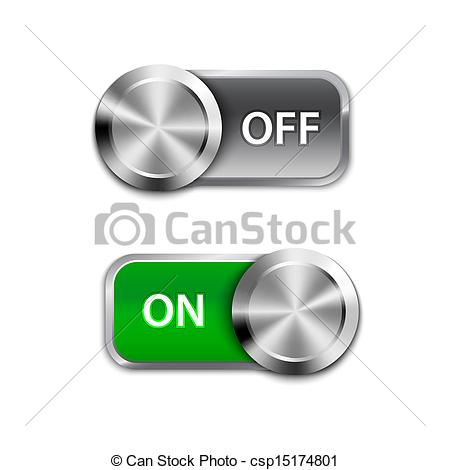 Vector Clipart of Toggle Switch On and Off position, On/Off.
