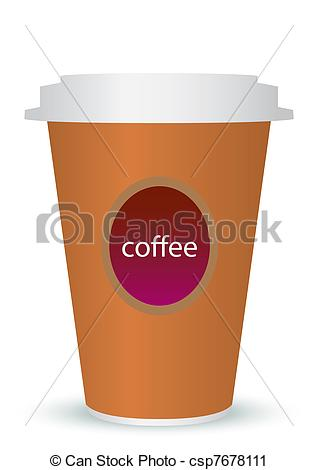 Vector Clip Art of coffee to go.