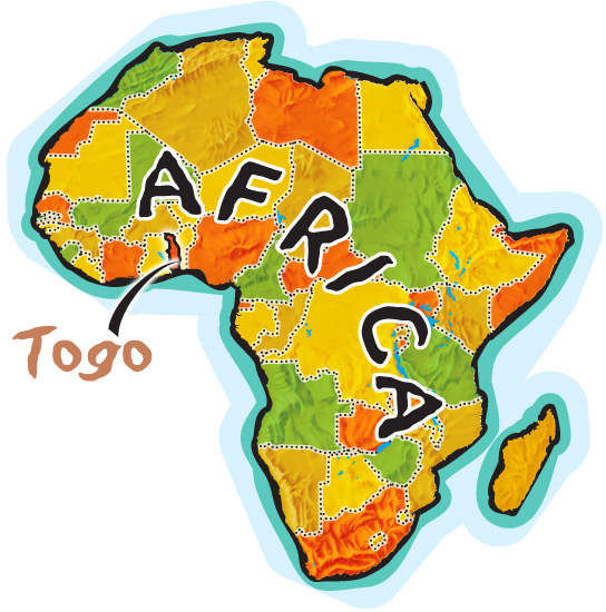 Togo map clipart.