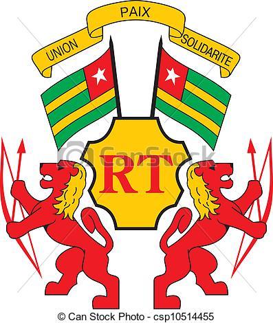 Clipart Vector of Togo coa n.