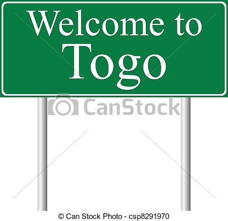 Vector Clipart of Welcome to Togo, concept road sign isolated on.