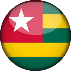Togo flag clipart.
