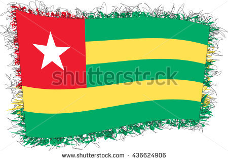 Togolese Flag Stock Photos, Royalty.