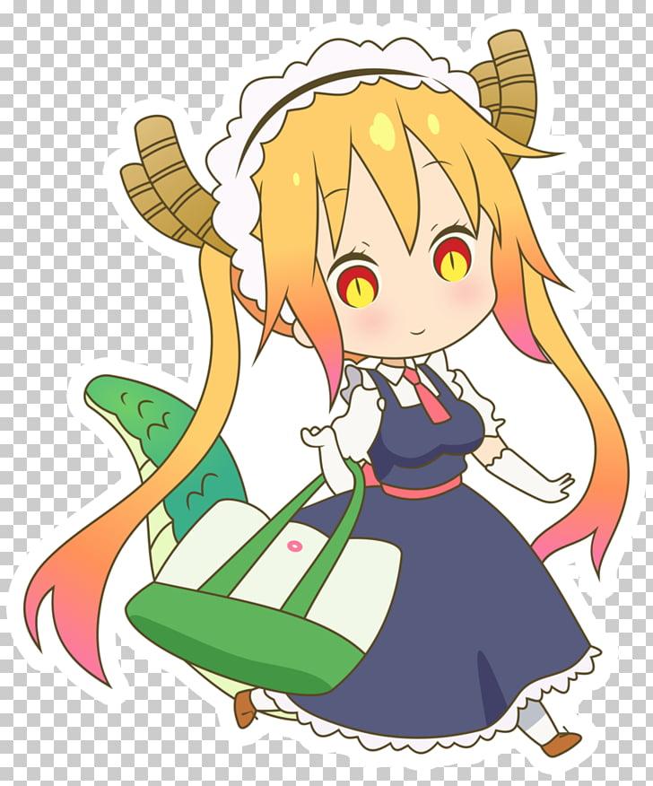 Anime Miss Kobayashi\'s Dragon Maid Mangaka, Tohru PNG.