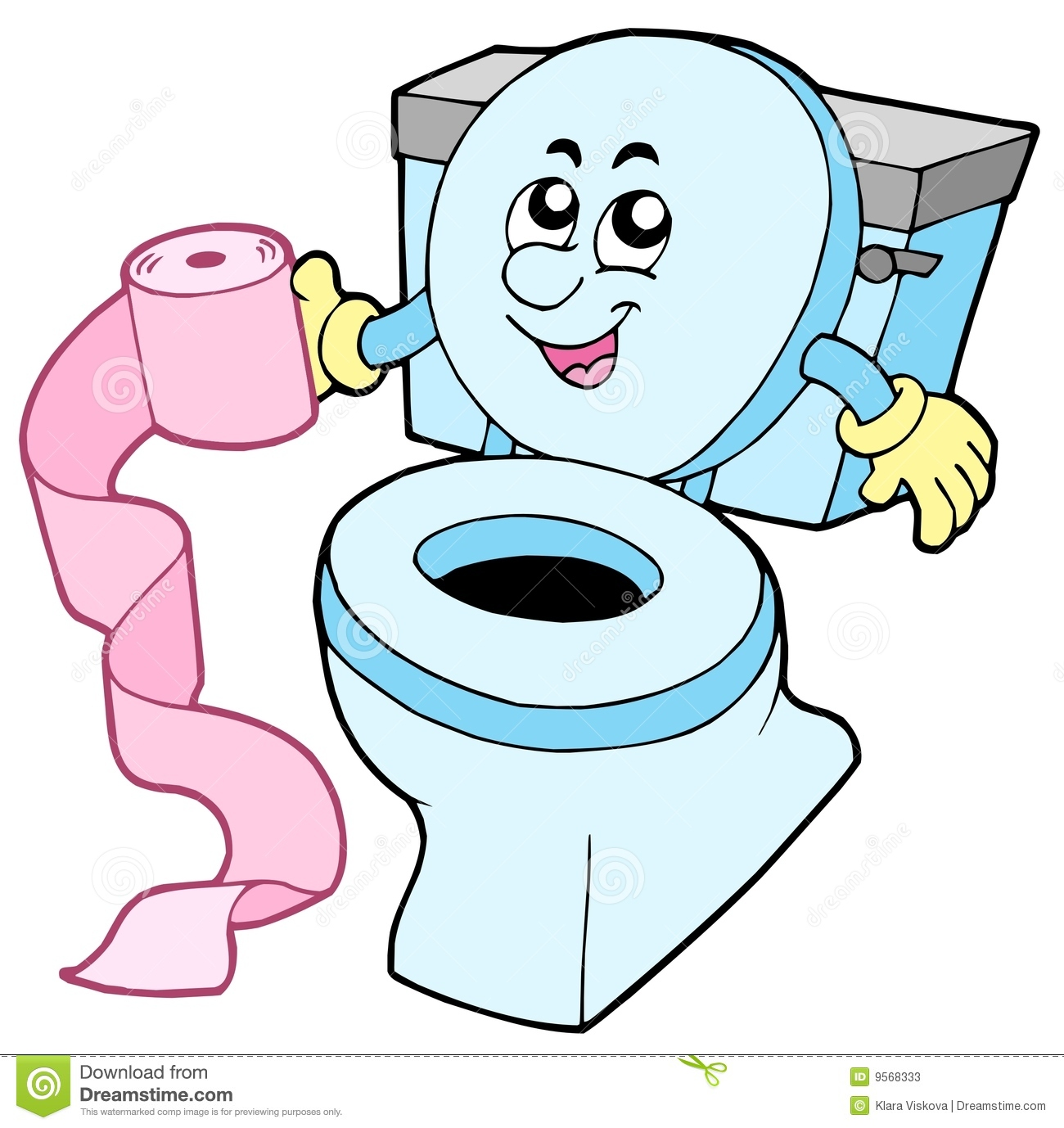 Happy toilet clipart.