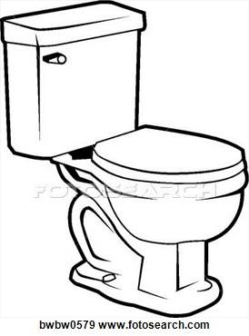 Toilet Clip Art Black And White.