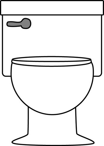 Toilet Clipart Black And White.