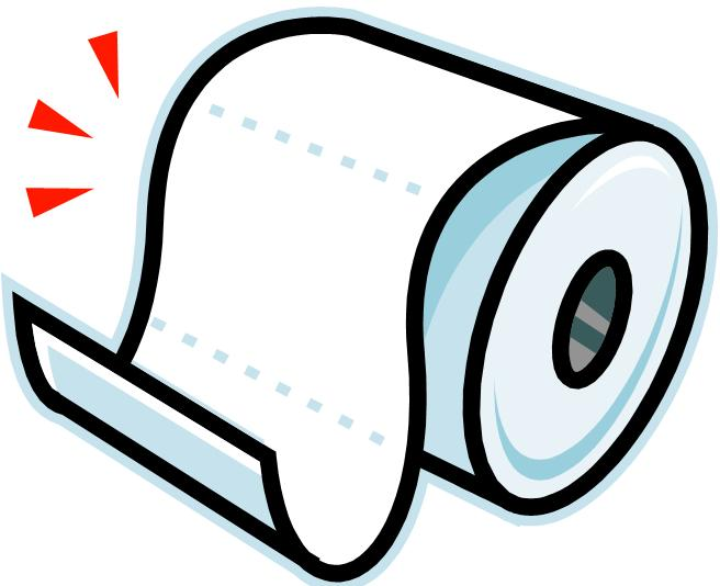 Toilet paper clipart free.