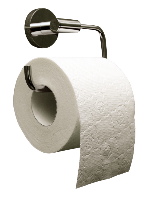 Toilet Paper Roll and Holder Transparent PNG Image #9.