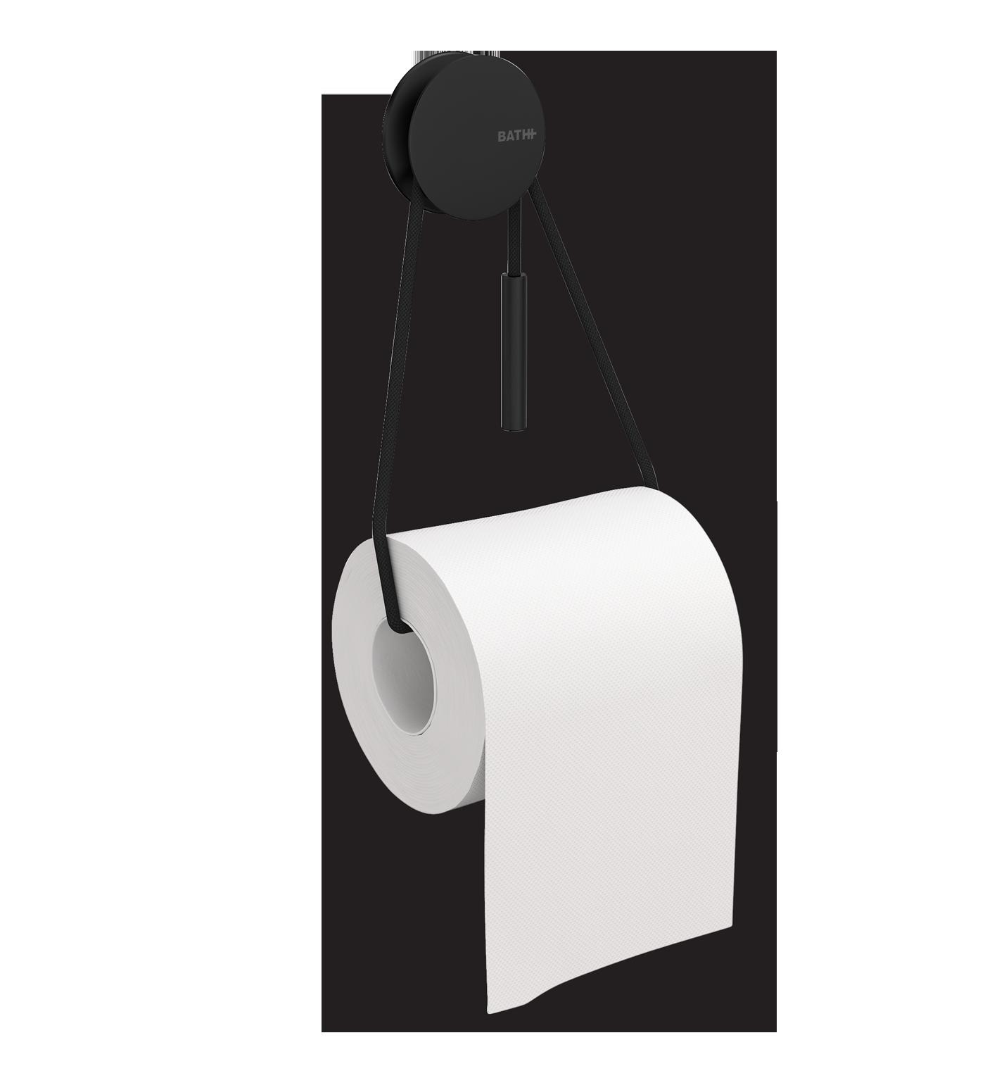 Diabolo Toilet Paper Holder, Black.