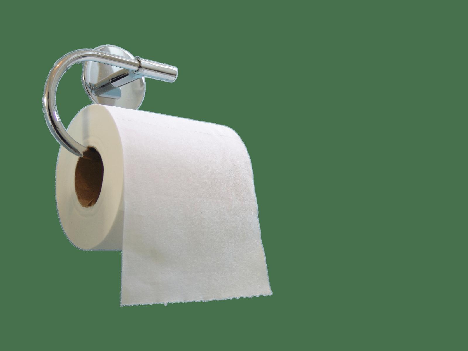 Toilet Paper on Holder transparent PNG.