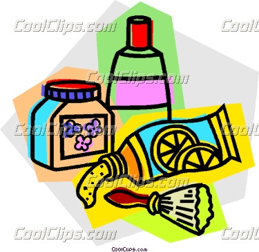 toiletries Vector Clip art.