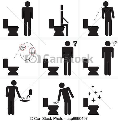Toilette Clipart Vector Graphics. 450 Toilette EPS clip art vector.