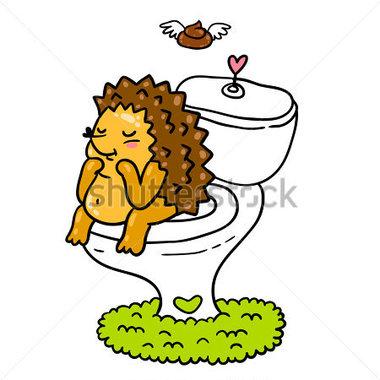 Cute Cartoon Toilet Clipart.
