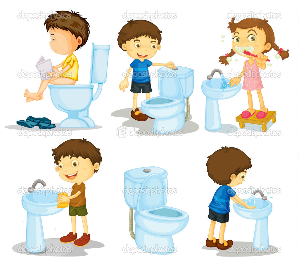 Kids and bathroom accessories — Stock Vector © interactimages.