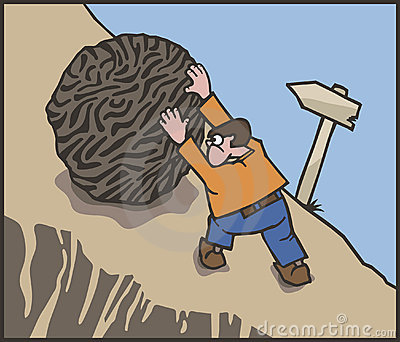 Sisyphus Stock Illustrations.