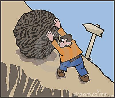 Sisyphus Stock Illustrations.