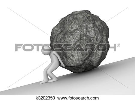 Stock Illustrations of Sisyphean toil k3202350.