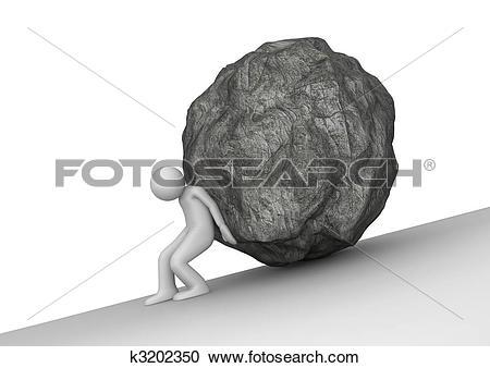 Stock Illustrations of Sisyphean toil k3202350.