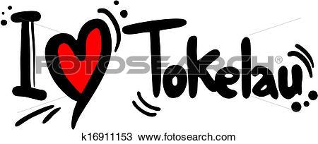 Clipart of Tokelau love k16911153.