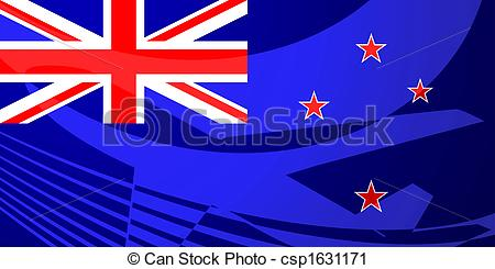 Clipart of Flag of Tokelau air travel illustration.