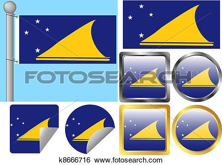 Clip Art of Flag Set Tokelau k8666716.