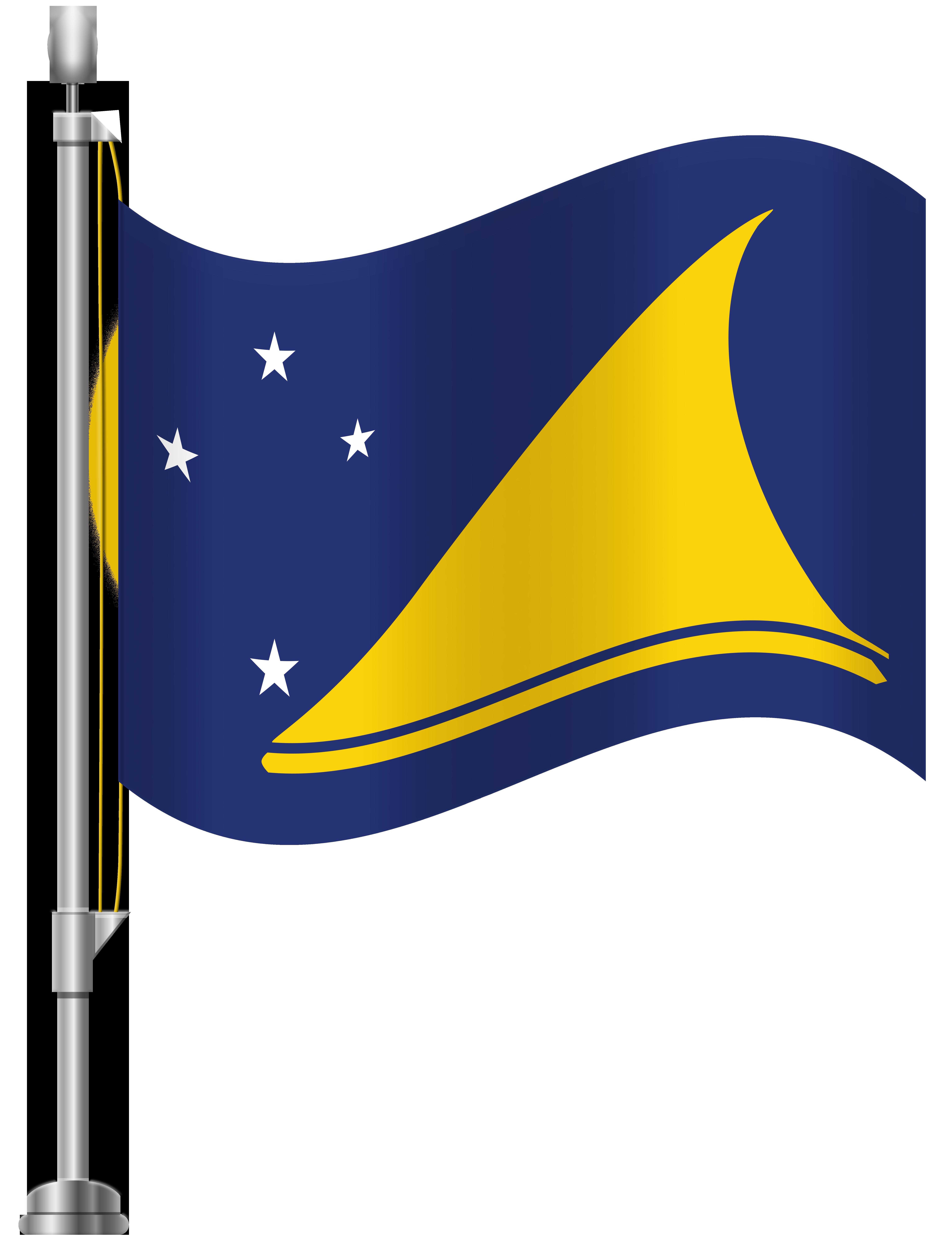 Tokelau Flag PNG Clip Art.