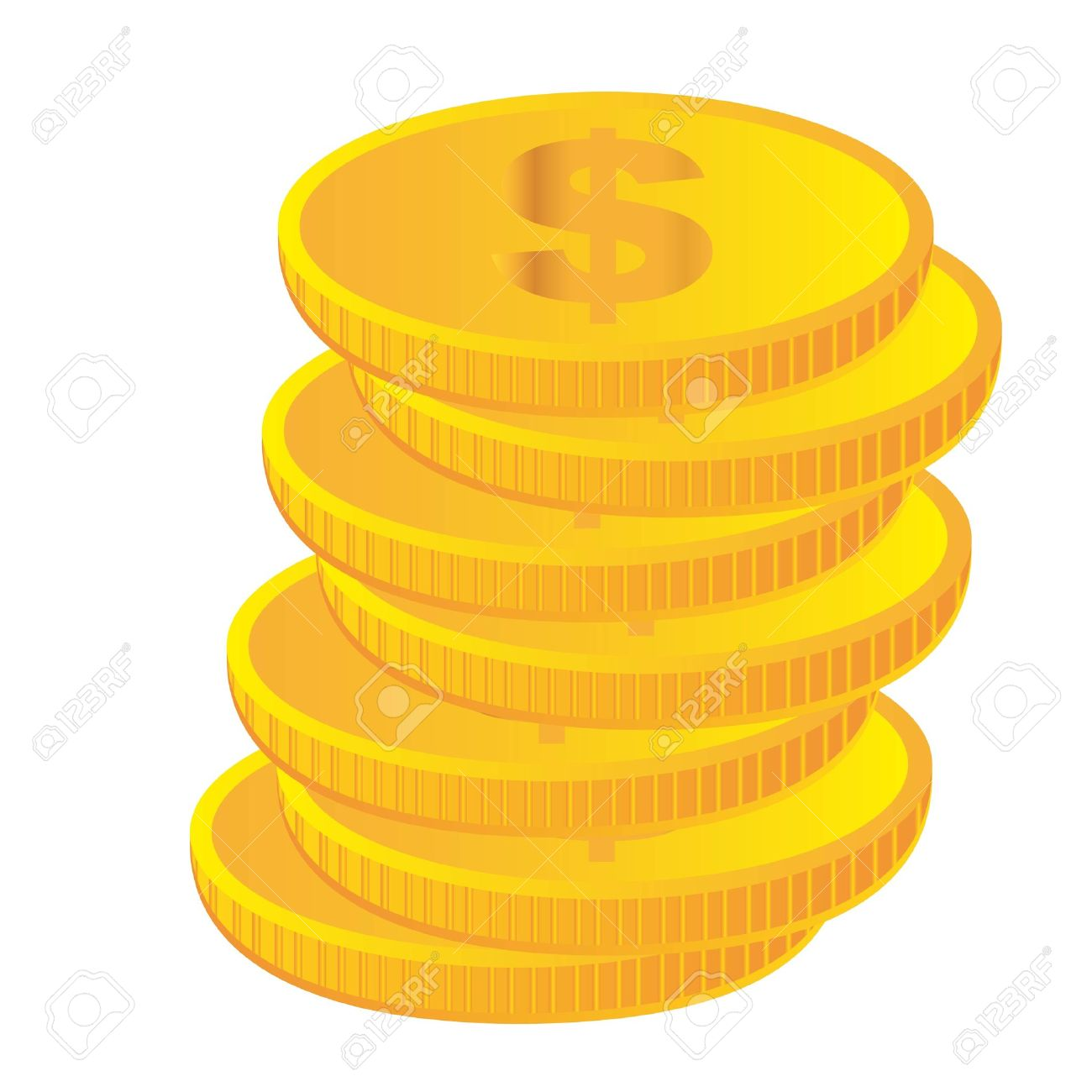 Gold token clipart.