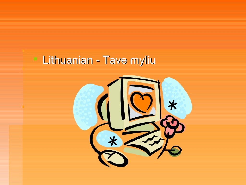 ul><li>Lithuanian.