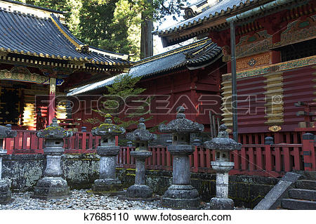 Stock Photography of mausoleums of the Tokugawa Shoguns k7685110.