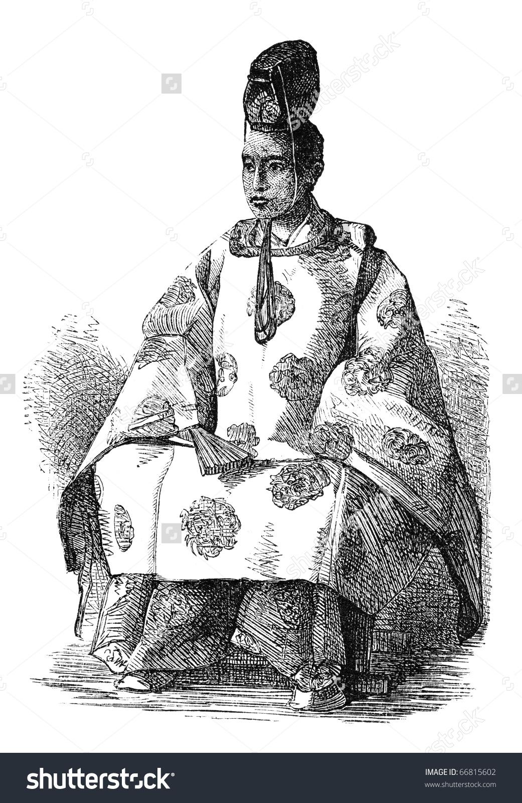 Tokugawa Yoshinobu Aka Keiki Last Shogun Stock Illustration.