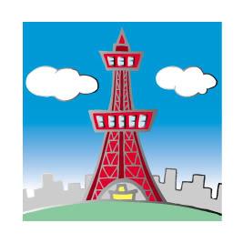 Clip Art Famous Buildings Tokyo Clipart.