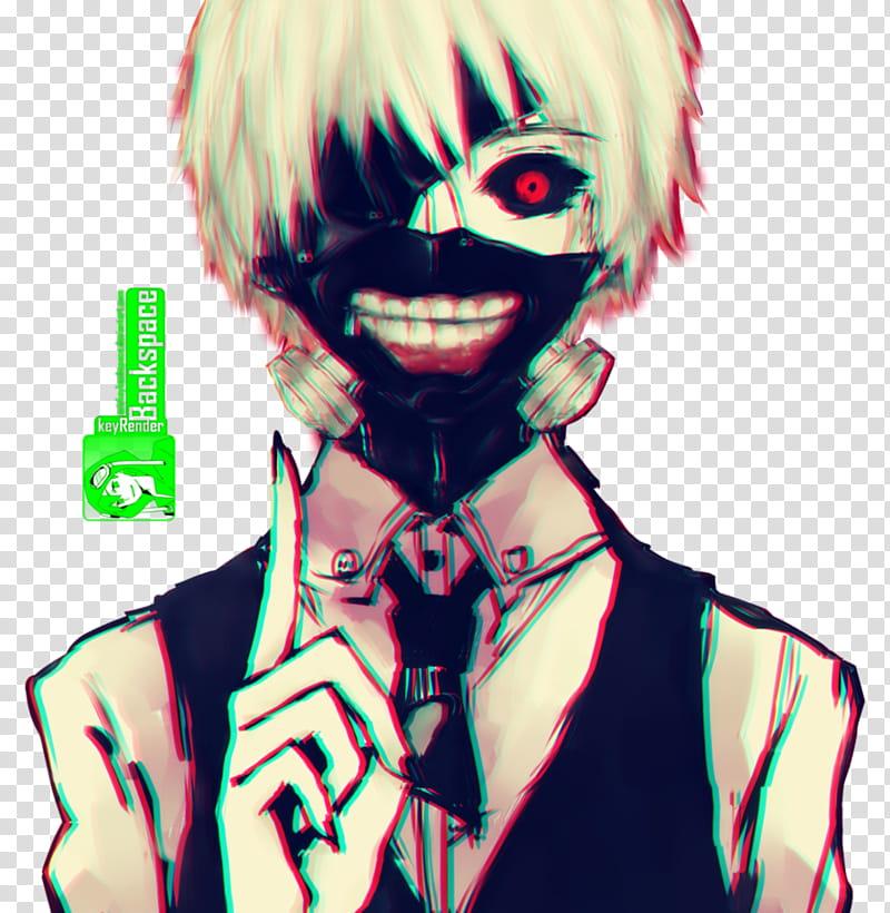 Kaneki Ken (Tokyo Ghoul), Render, male character transparent.