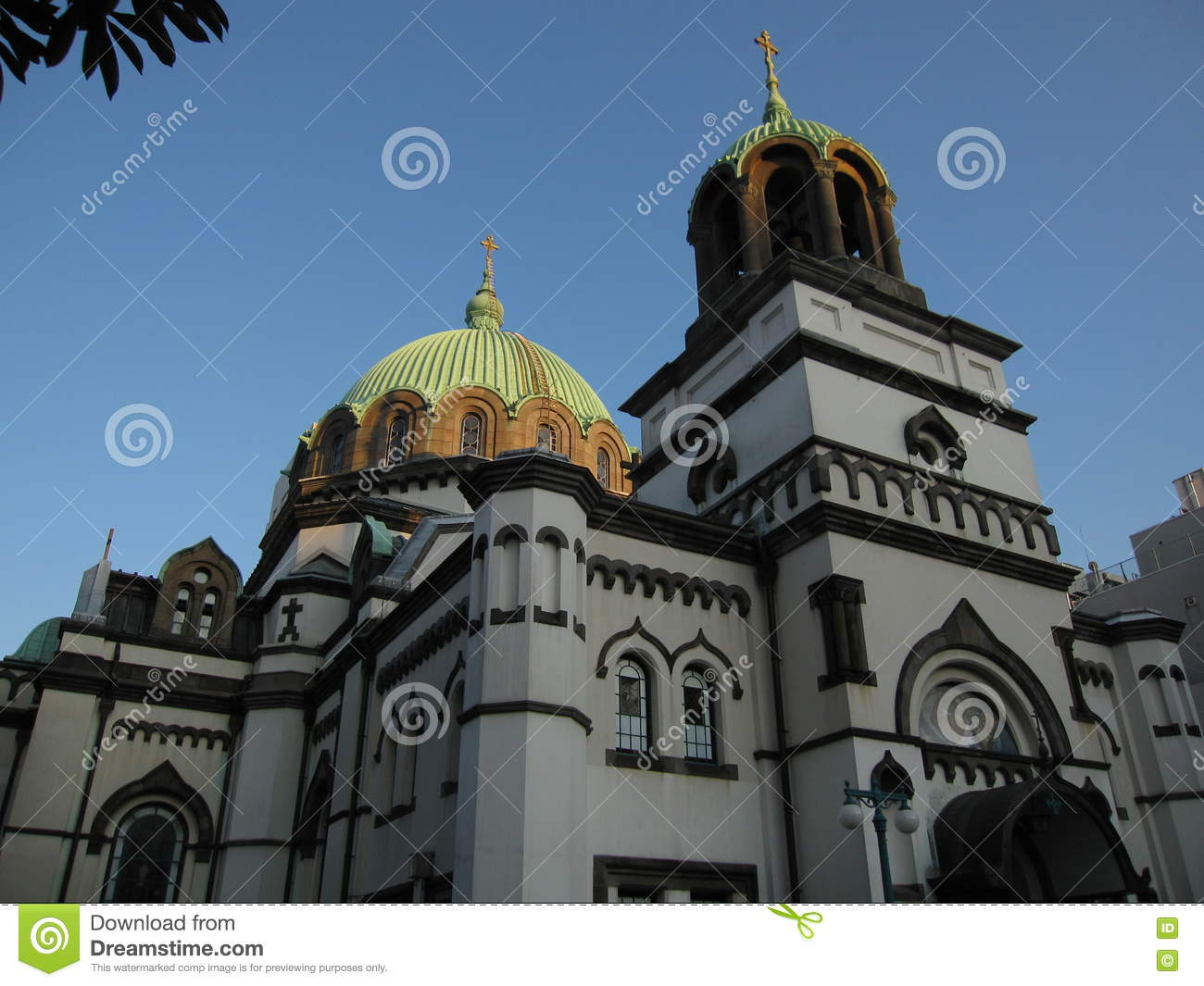 Japanese Orthodox Church Building In Tokyo Stock Photo.