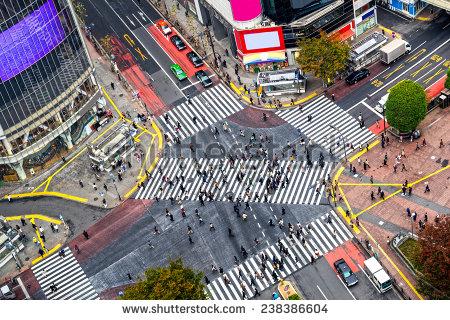 Shibuya Crossing Stock Images, Royalty.