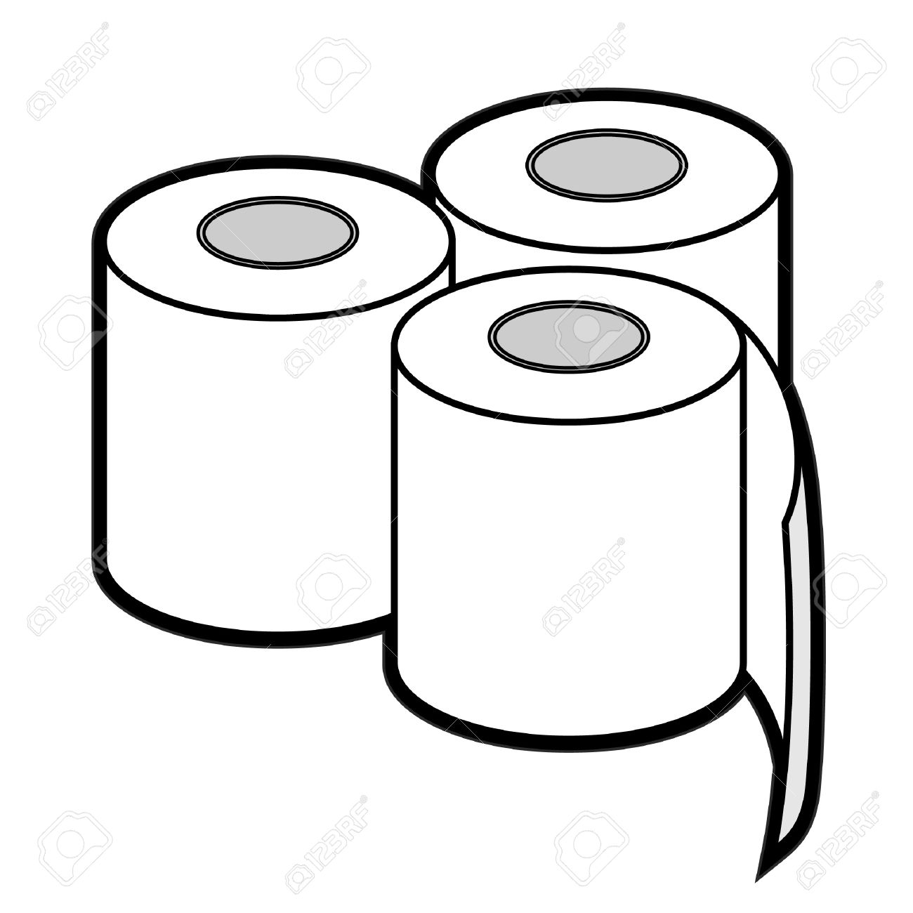 Collection of Toilet paper clipart.