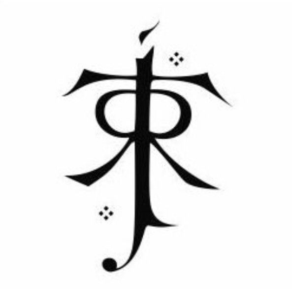 I love the idea of the symbol of JRR Tolkien\'s initials as a.