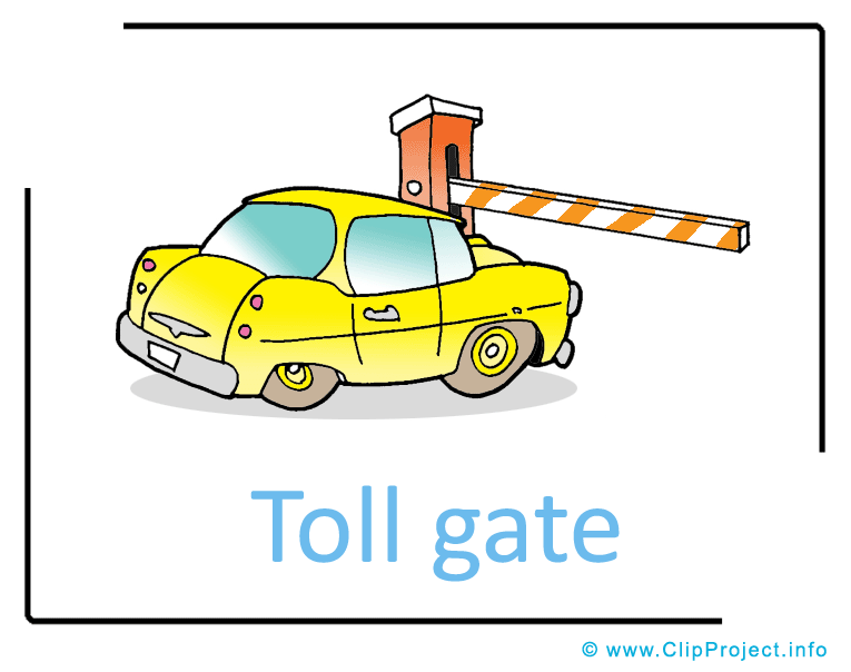 Toll Car Clip Art.