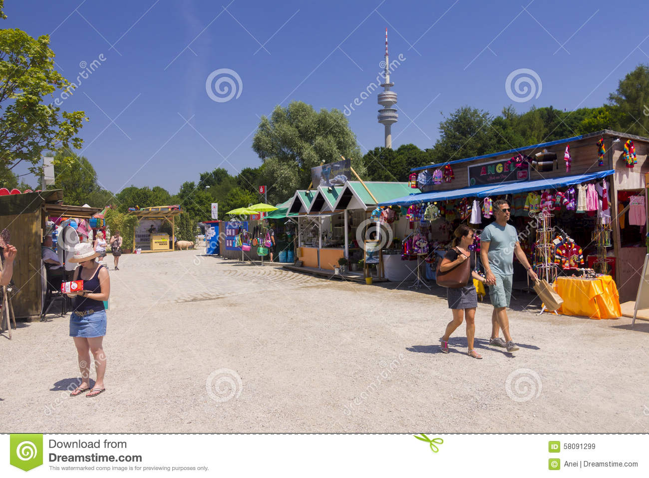 Munich Tollwood Summer Festival Editorial Photography.