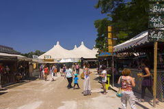 People At Summer Tollwood Festival In Munich Editorial Stock Image.