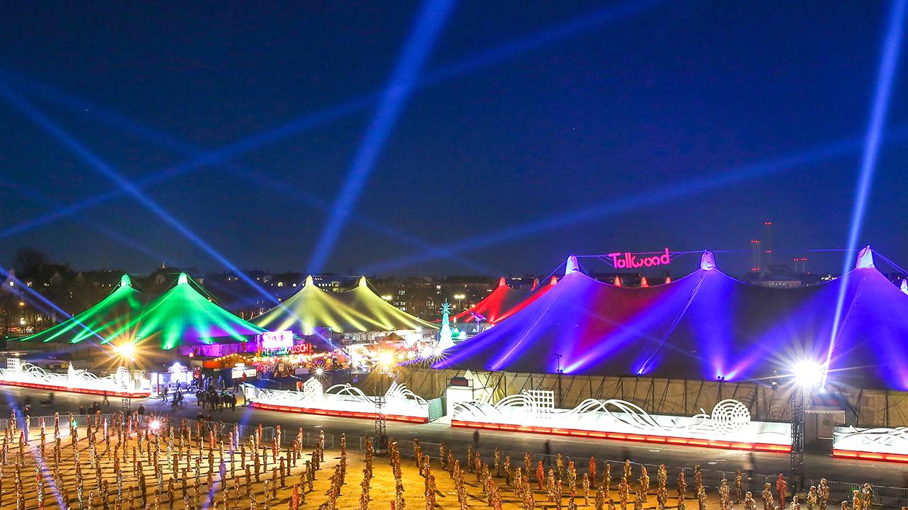 Tollwood München: Veranstaltungen, Konzerte, Theater, Markt.
