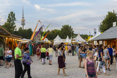 Munich Tollwood Summer Festival Editorial Photography.