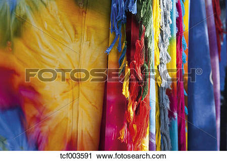 Stock Photography of Germany, Munich, batik clothes during.