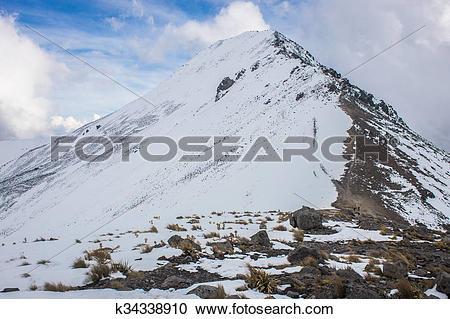 Stock Photography of View of Nevado de Toluca in Central Mexico.