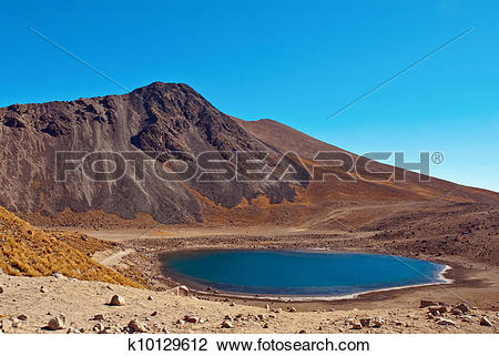Stock Photo of Nevado de Toluca, old Volcano near Toluca Mexico.